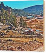 Mission Cusarare Tarahumara Village In Chihuahua-mexico  Wood Print