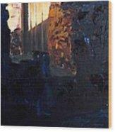 Mission Door At Sunset Wood Print