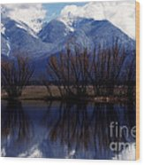 Mission Mountains Mission Valley Wood Print