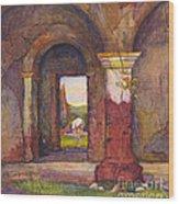 Mission Of San Juan Capistrano By Rowena Meeks Abdy 1887-1945  Wood Print