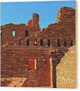 Mission Ruins At Abo Wood Print