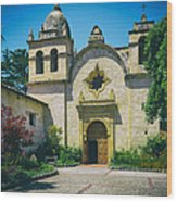 Mission San Carlos - Carmel California Wood Print