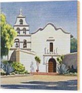 Mission San Diego De Alcala Wood Print by Mary Helmreich