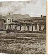 Mission San Francisco De Asis Mission Dolores And Mission House Calif. 1880 Wood Print
