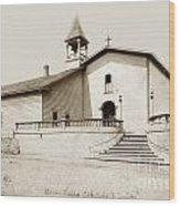 Mission San Luis Obispo Circa 1890 Wood Print