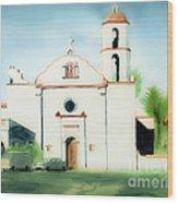 Mission San Luis Rey Dreamy Wood Print by Kip DeVore