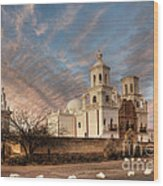 Mission San Xavier Del Bac Wood Print