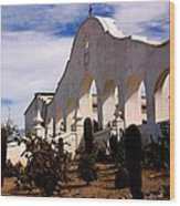Mission San Xevier Del Bac Wood Print