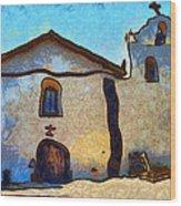 Mission Santa Ines Wood Print