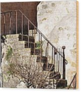 Mission Stairs Wood Print