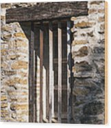 Mission Window Wood Print