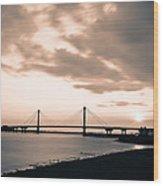 Clark Bridge In Timelapse Wood Print