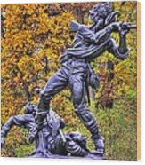 Mississippi At Gettysburg - Desperate Hand-to-hand Fighting No. 5 Wood Print