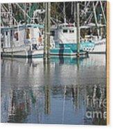 Mississippi Boats Wood Print