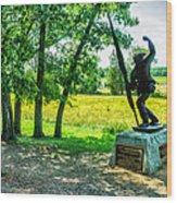 Mississippi Memorial Gettysburg Battleground Wood Print by Bob and Nadine Johnston