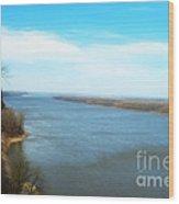 Mississippi Overlook Trail  Of Tears Wood Print