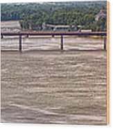 Mississippi River At I-72 Wood Print