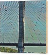 Mississippi River Bridge At Cape Girardeau Mo  Wood Print