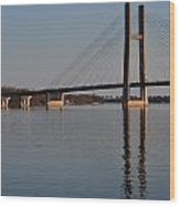 Mississippi River Bridge Wood Print