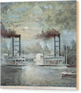 Mississippi River Race, C1859 Wood Print