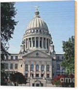 Mississippi State Capitol Downtown Jackson Wood Print
