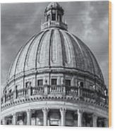 Mississippi State Capitol Viii Wood Print by Clarence Holmes