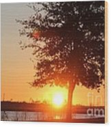 Mississippi Sunset 1 Wood Print