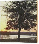 Mississippi Sunset 12 Wood Print