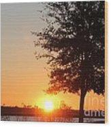 Mississippi Sunset 4 Wood Print