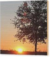 Mississippi Sunset 7 Wood Print