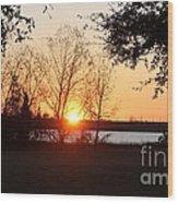 Mississippi Sunset 9 Wood Print