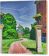 Missouri Botanical Garden Pathway Wood Print