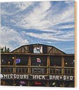 Missouri Hick Bbq Wood Print