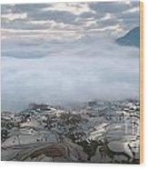 Mist And Cloud Wood Print