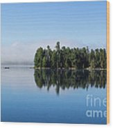 Mist On Lake Of Two Rivers Wood Print