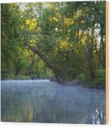 Mist On The Wissahickon Wood Print