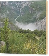 Mist Over Grand Canyon Du Verdon  Wood Print