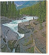 Mistaya Canyon Along Icefield Parkway In Alberta Wood Print