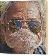 Mister Big Lip Wood Print