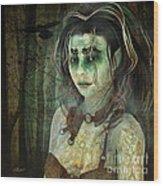 Mistress Of The Dark Woods Wood Print
