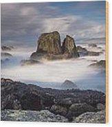 Mists Of The Sea Wood Print