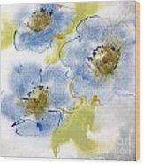 Misty Blue II Wood Print