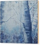 Misty Blue Wood Print