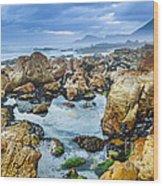 Misty Cliffs Iv Wood Print