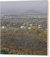 Misty Fall Pano Of The Shenandoah Valley Wood Print