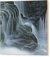 Misty Falls - 70 Wood Print