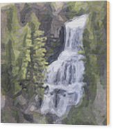 Misty Falls Wood Print by Jo-Anne Gazo-McKim