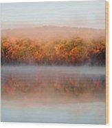 Misty Foilage Wood Print
