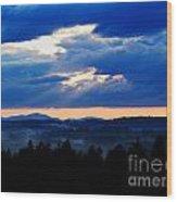 Misty Hills Wood Print by Steven Valkenberg