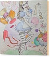 Misty Kay In Wonderland Wood Print